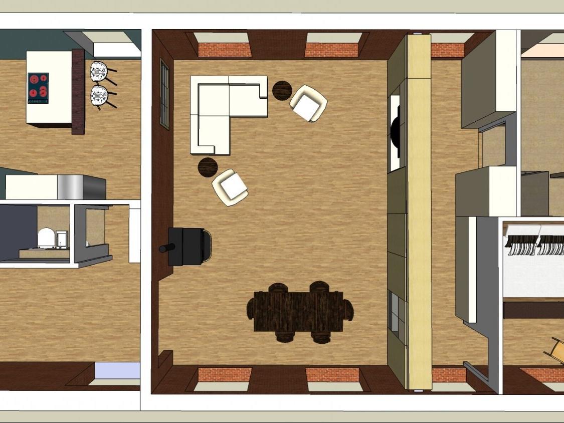 Nutzungskonzepte ehemaliges Jugendheim - Visualisierung Variante 2