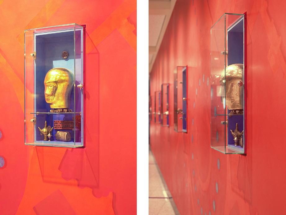 Generalmodernisierung Agrippabad Köln - Vitrinen im Foyer