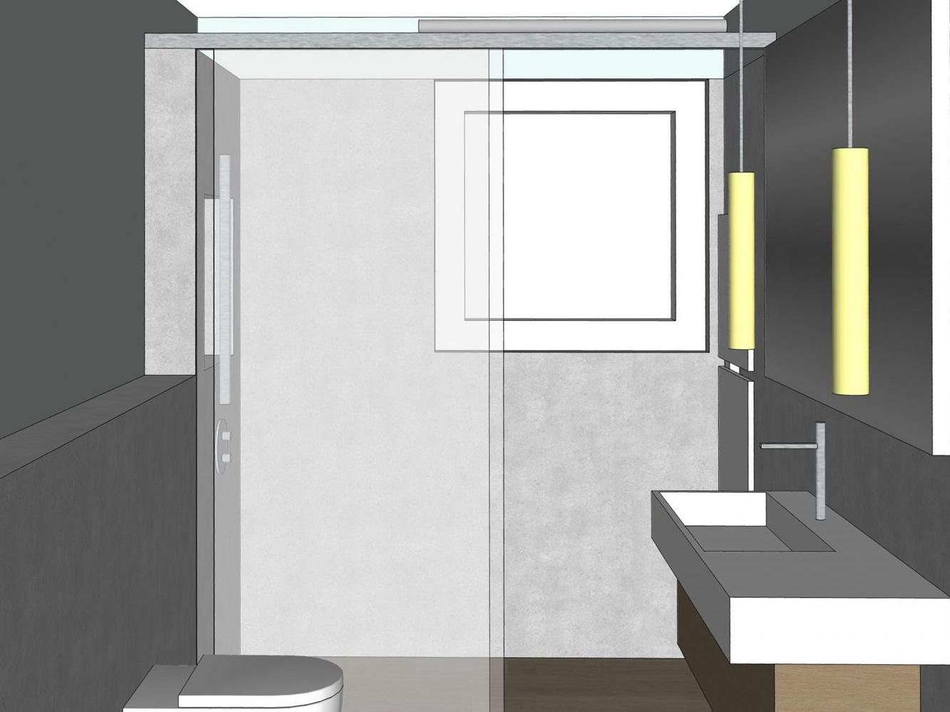 Badkonzepte für Duschbad - Variante 2