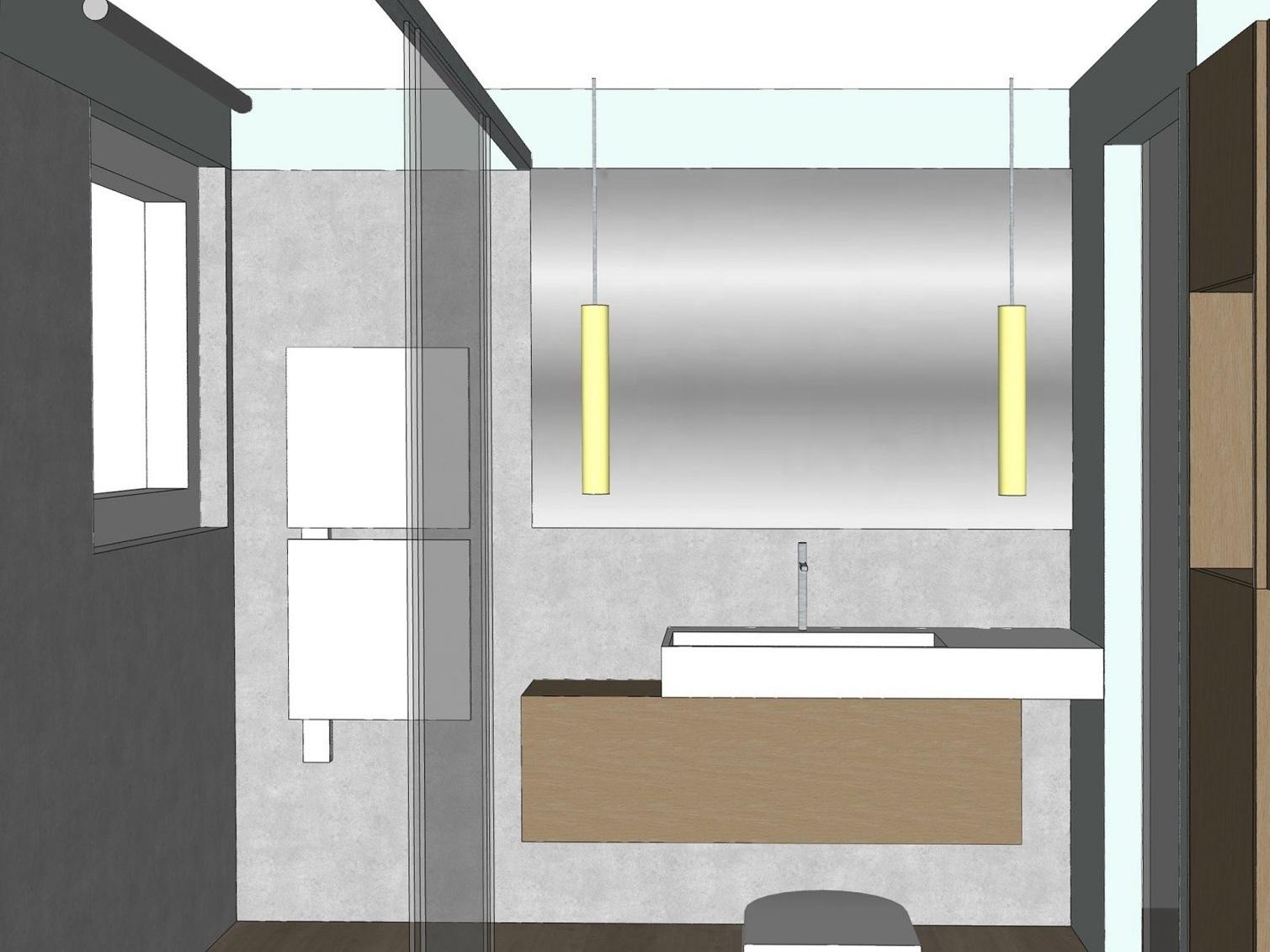 Badkonzepte für Duschbad - Variante 2, Waschplatz