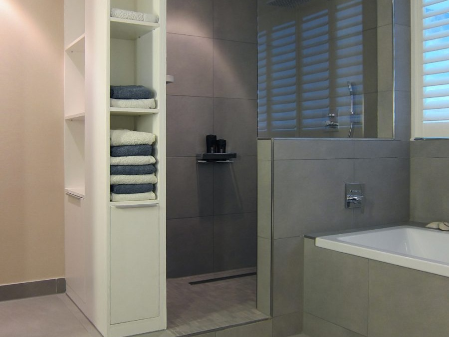 Masterbad im Loft - Dusche