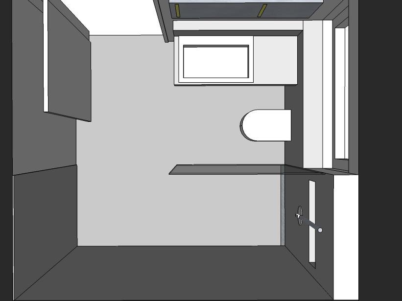 Gästebad - Visualisierung von oben