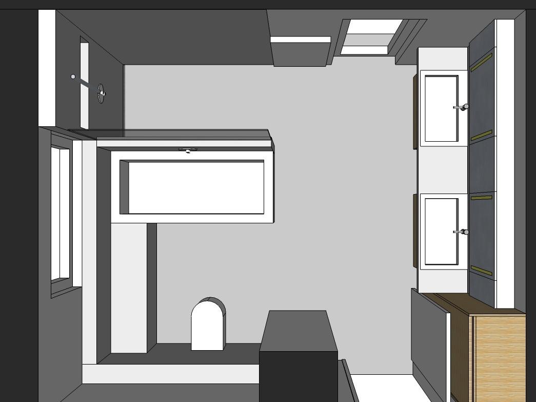 Familienbad - Visualisierung von oben