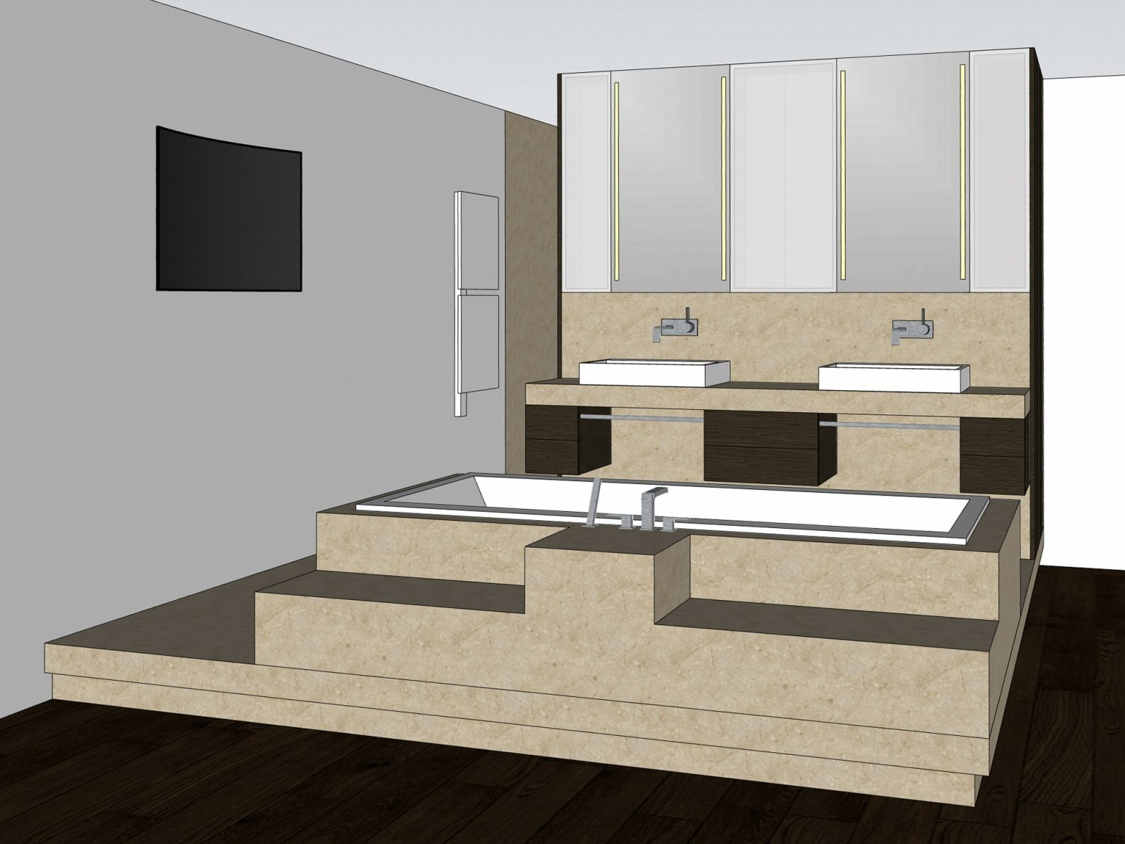 Luxusbad im Penthouse - Visualisierung