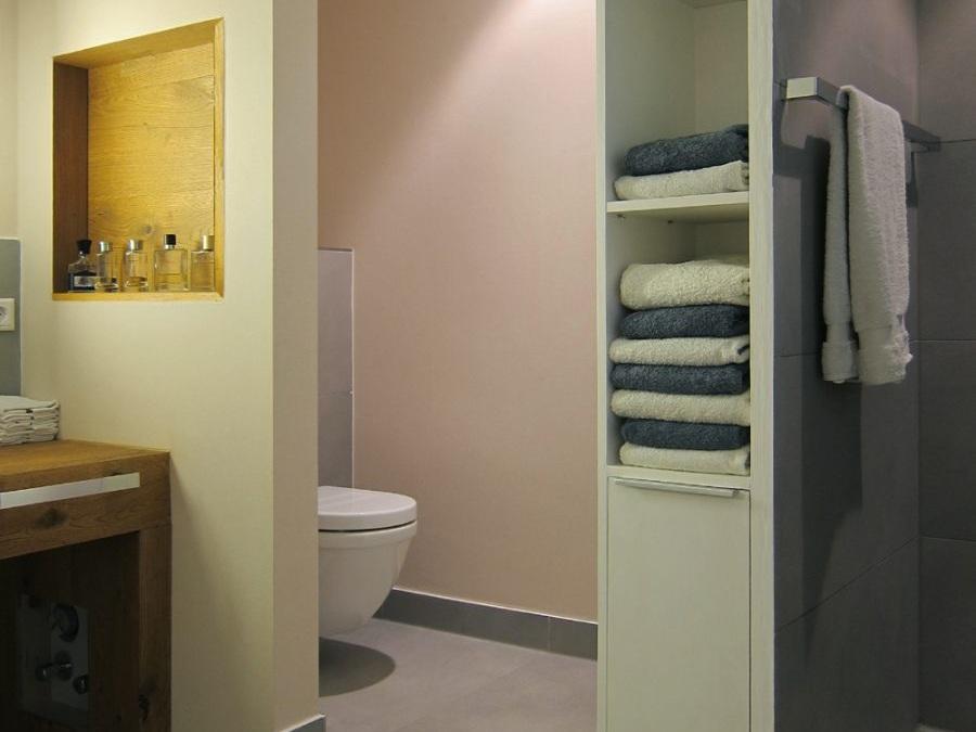 Masterbad im Loft - WC-Nische