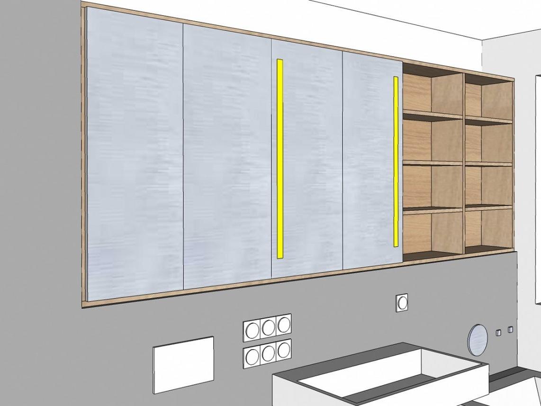 Großer Spiegelschrank im Neubaubad - Visualisierung