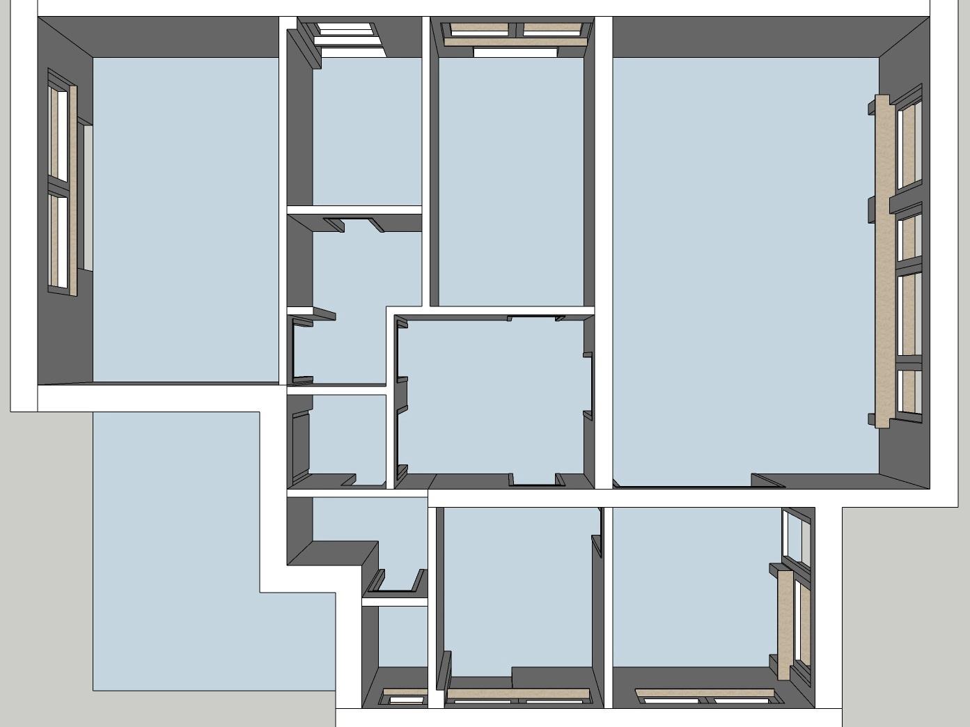 Raumkonzepte Wohnung - Bestand