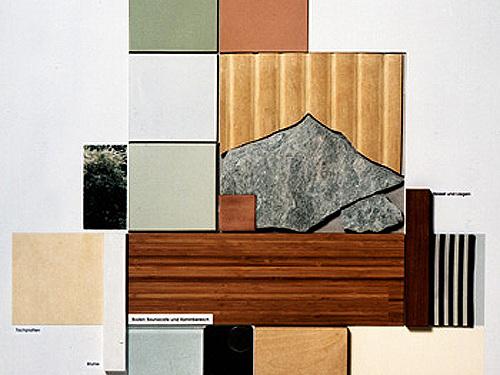 Meerwasser-Brandungsbad Duhnen-Cuxhaven - Materialcollage Saunabereich