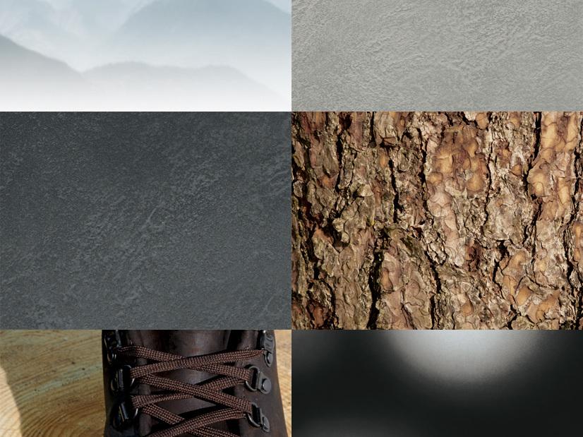 Wanderlust - Materialcollage