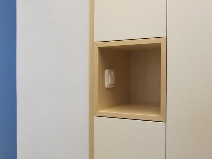 Garderobe und Schuhschrank im Flur - Detail Lichschalter