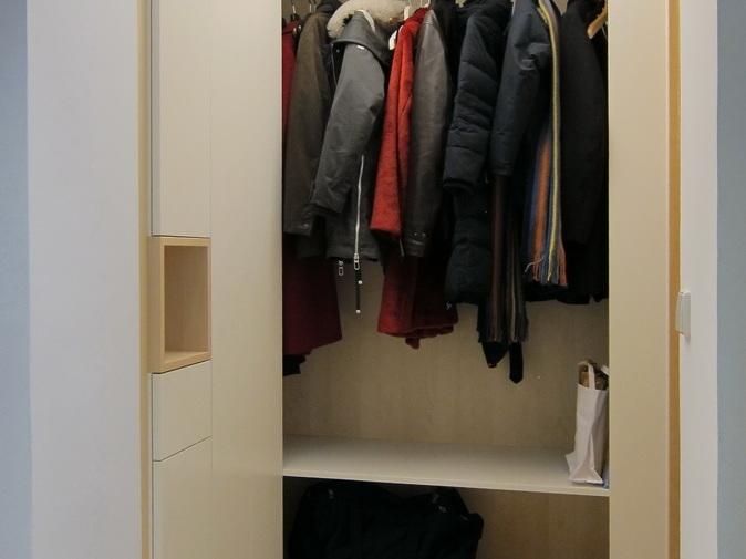 Garderobe und Schuhschrank im Flur