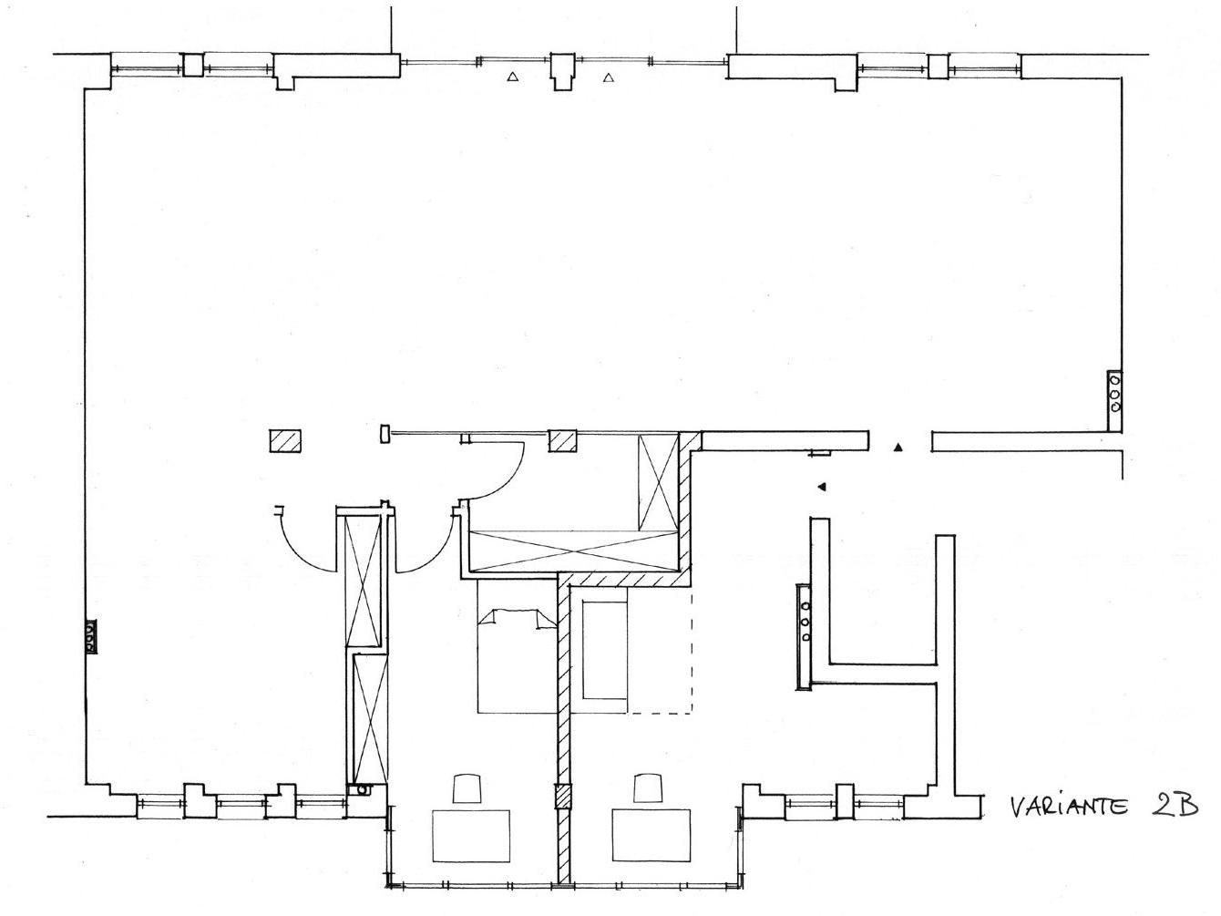 Nutzungskonzepte Loftwohnung - Variante 2 B