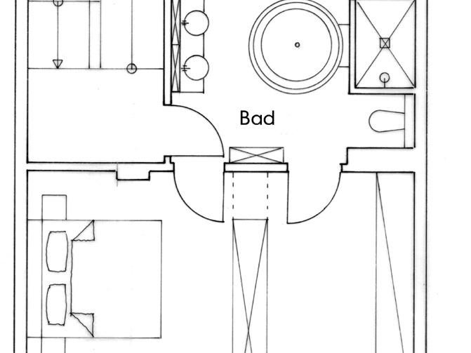 Nutzungskonzepte Wohnhaus - DG, Konzept 1