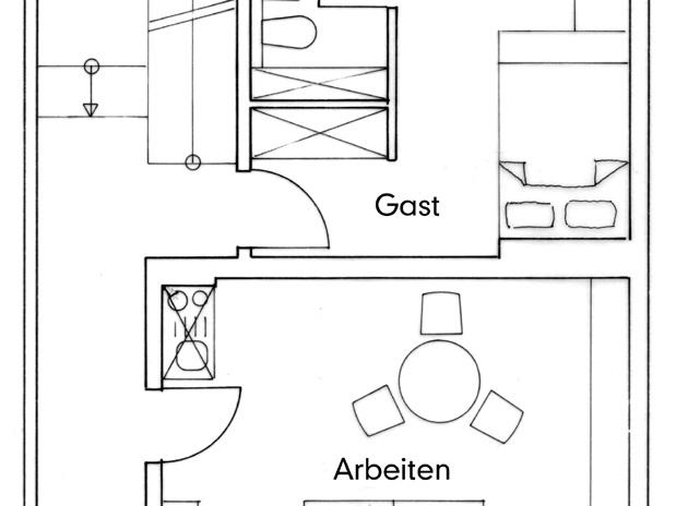 Nutzungskonzepte Wohnhaus - EG, Konzept 1