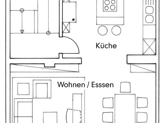 Nutzungskonzepte Wohnhaus - OG, Konzept 1