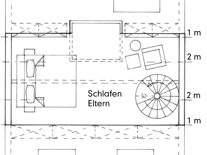 Nutzungskonzepte Wohnhaus - DG Spitzboden, Konzept 2