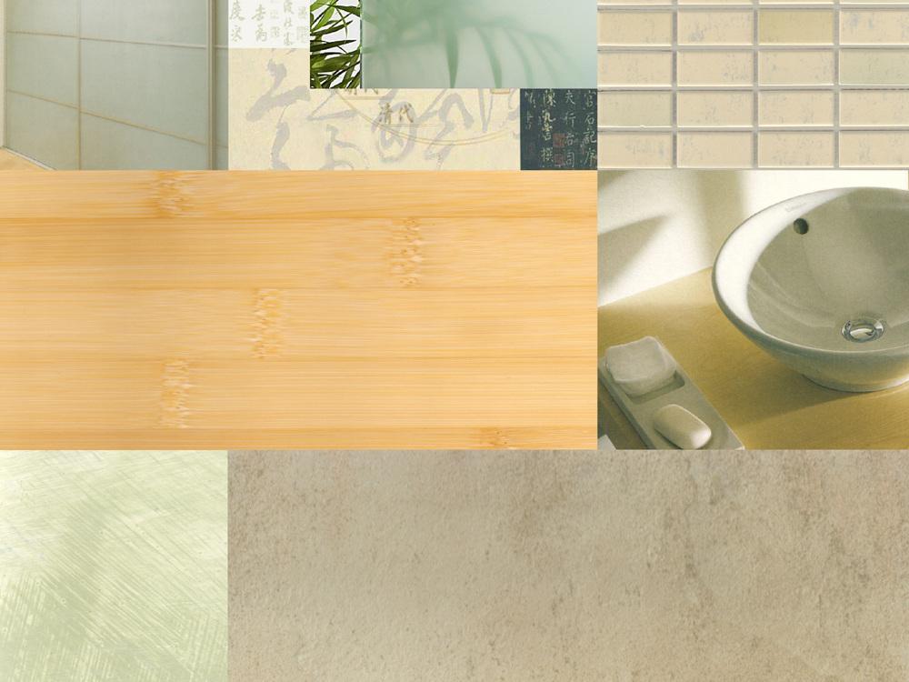 Nutzungskonzepte Doppelhaushälfte - Farb- und Materialcollage