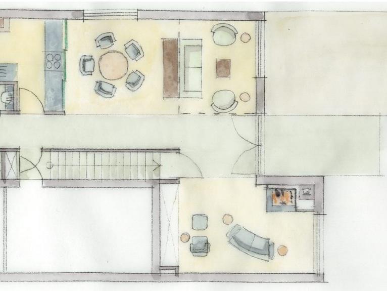Nutzungskonzepte Doppelhaushälfte - Grundriss EG, Stilwelt