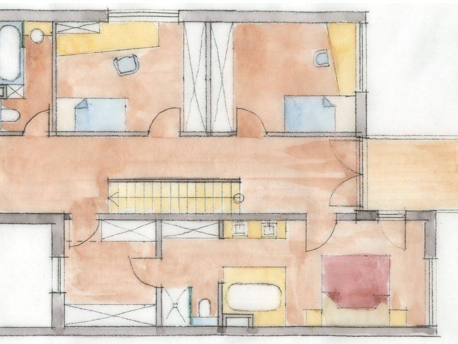 Nutzungskonzepte Doppelhaushälfte - Grundriss OG, Stilwelt