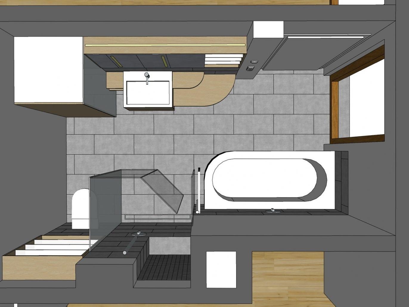Komfortbad - Visualisierung von oben