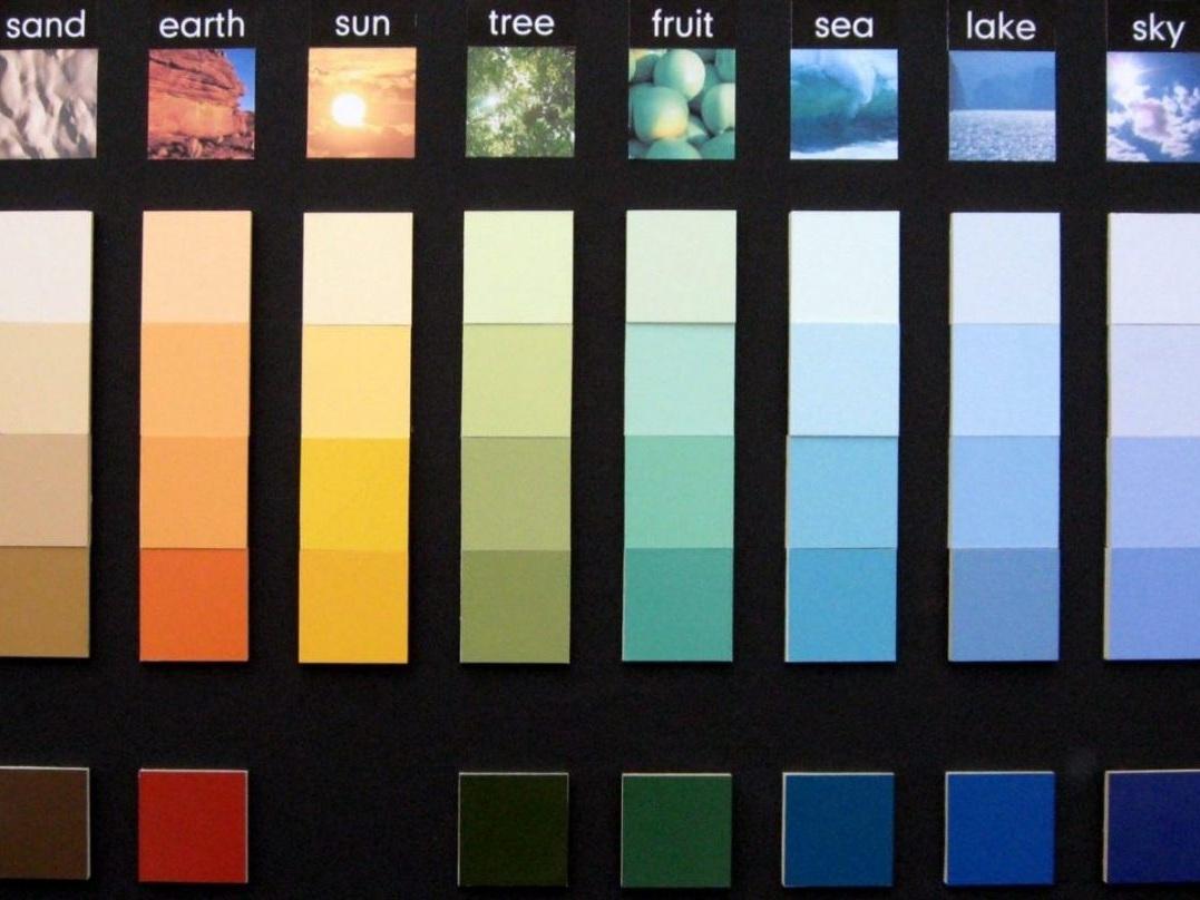 Color-Programm Fliesen - Farbfamilien