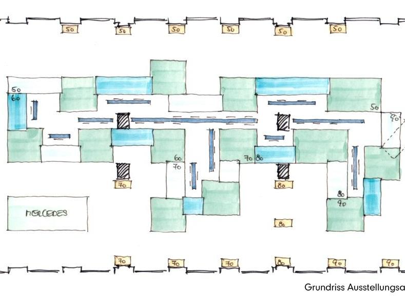 Museum für Angewandte Kunst Köln - Neugestaltung der Designsammlung, Grundriss