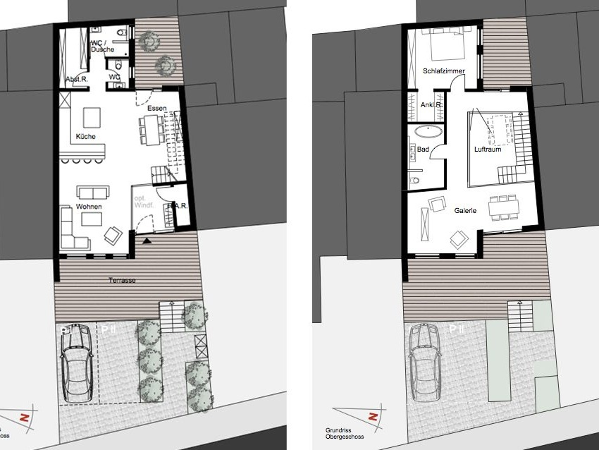 Nutzungskonzepte für Neubau - Planung des Architekten