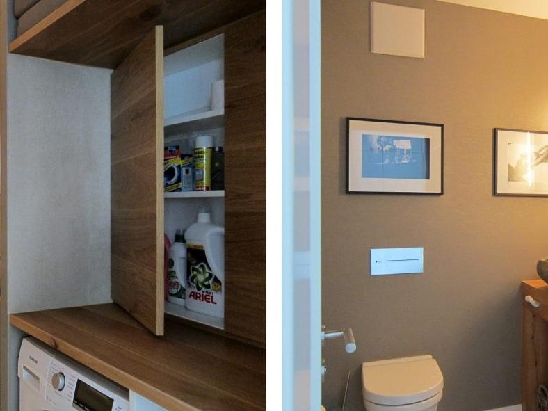 Gäste-WC mit Waschmaschine - Einbauschrank