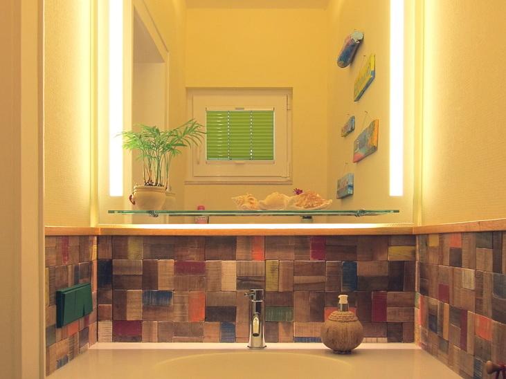 Karibische Träume - Waschtisch mit Spiegel