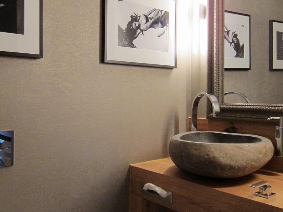 Gäste-WC mit Waschmaschine - Waschtisch
