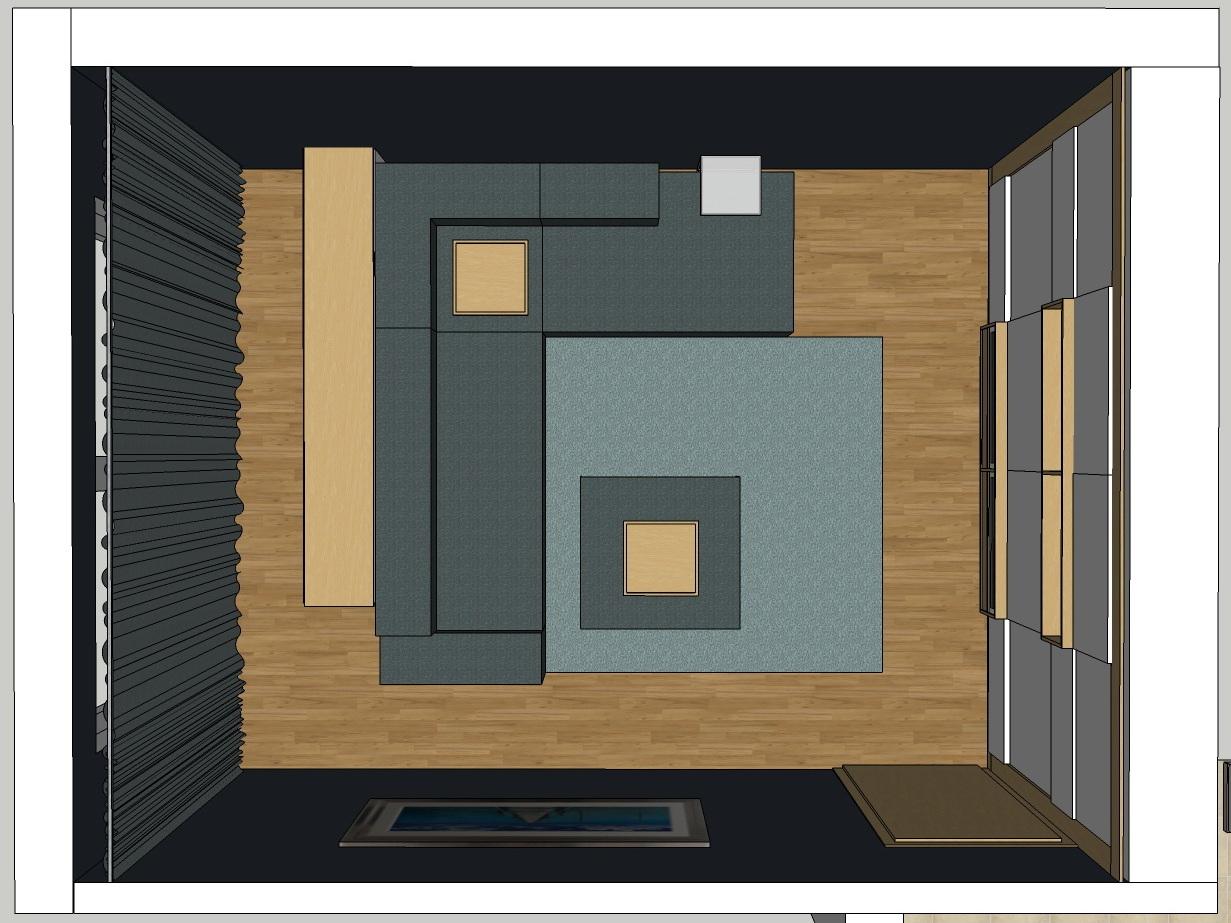 TV-Versteck - Visualisierung von oben