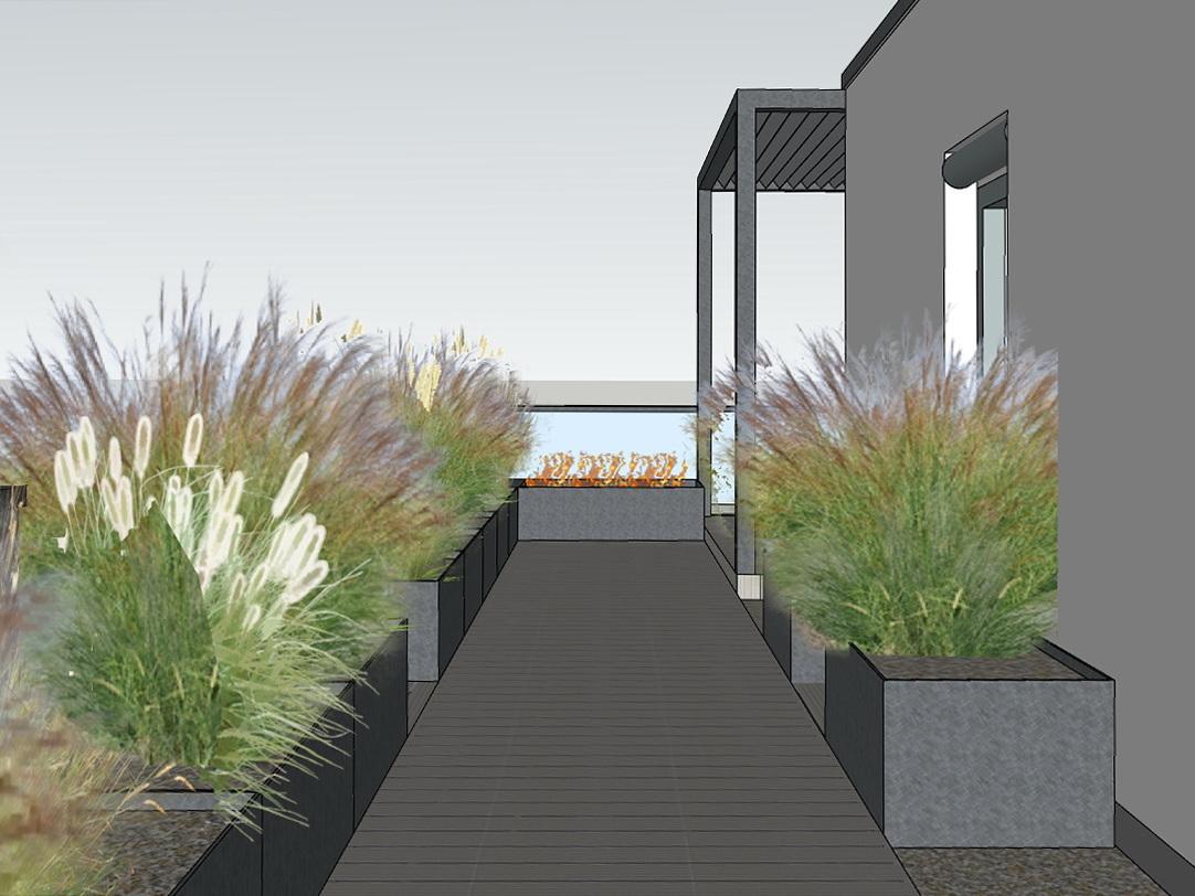Dachterrasse - Variante 2, Weg