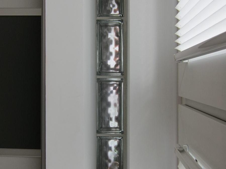 Ehemaliges Jugendheim - Detail Glasbausteine