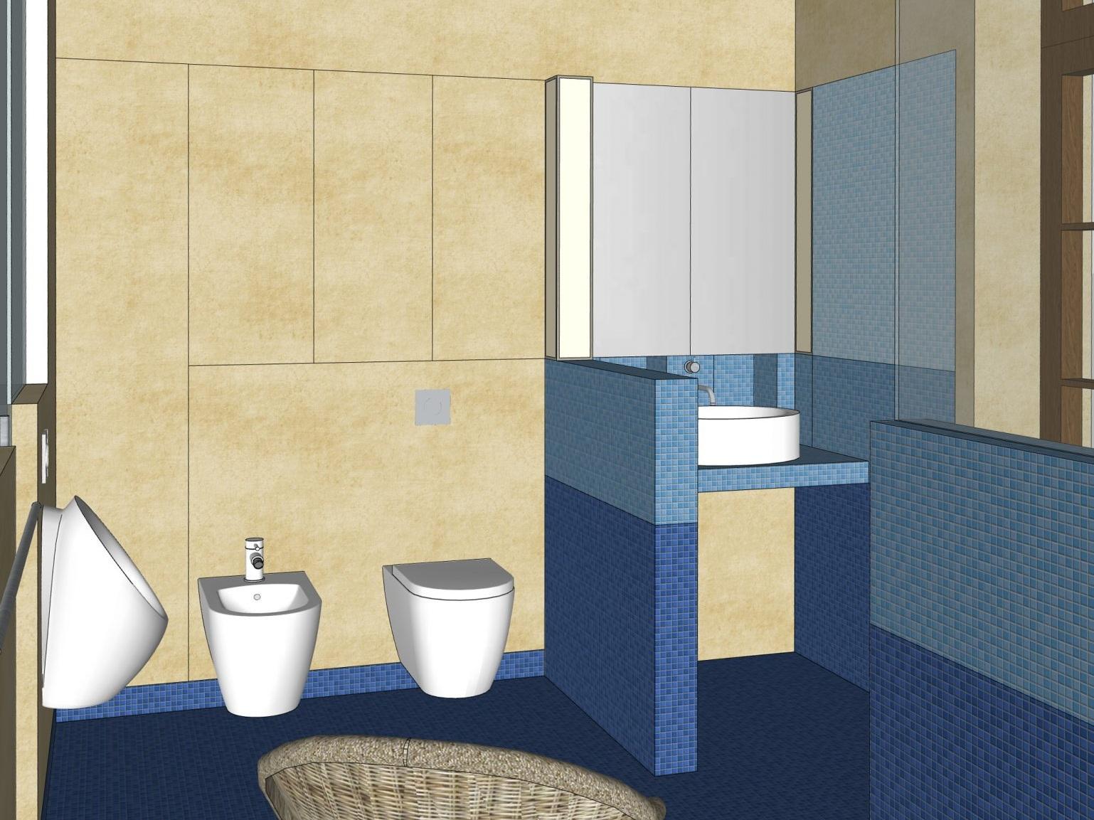 Umnutzung im Altbau - Visualisierung Waschplatz