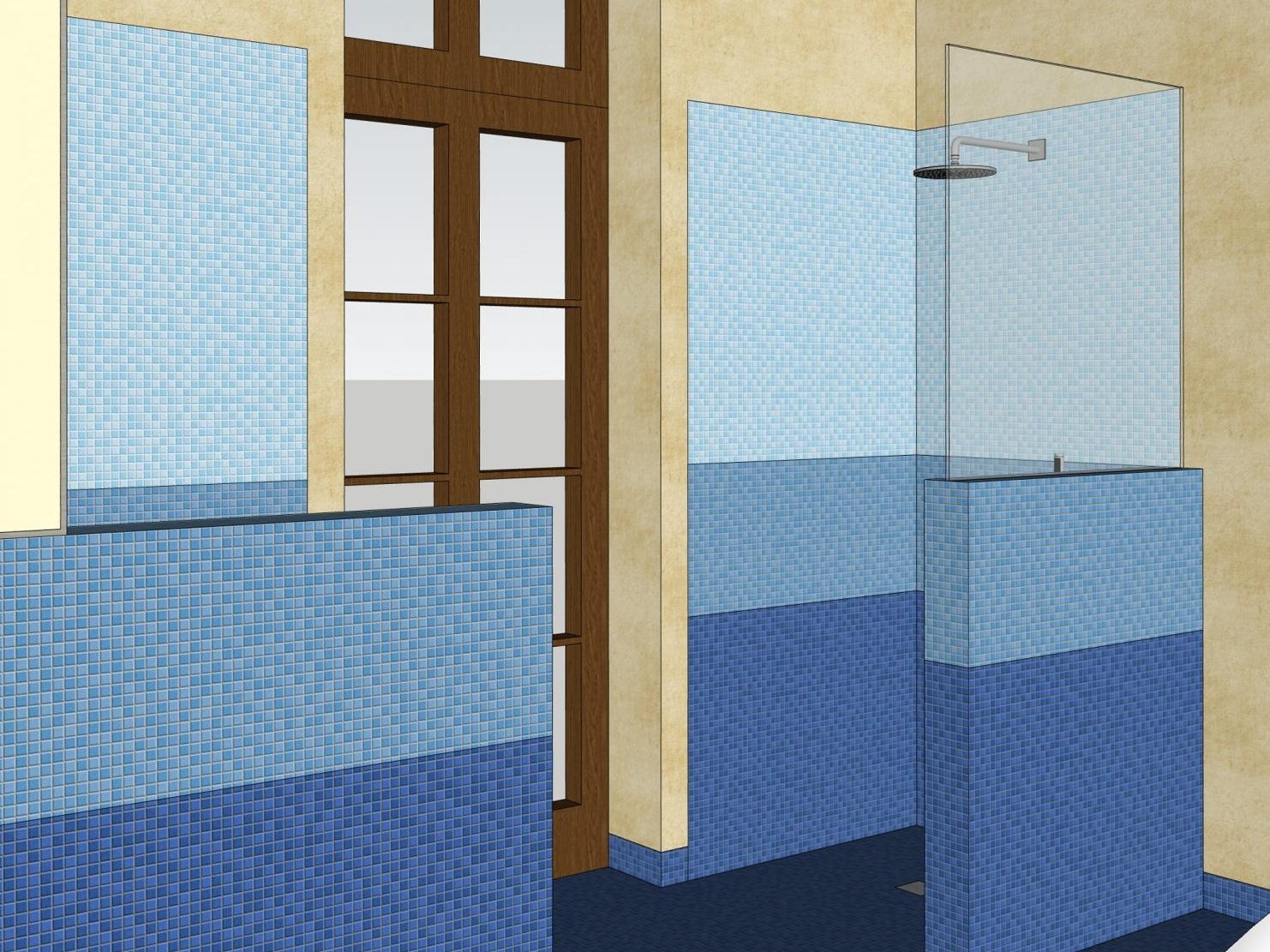 Umnutzung im Altbau - Visualisierung Dusche