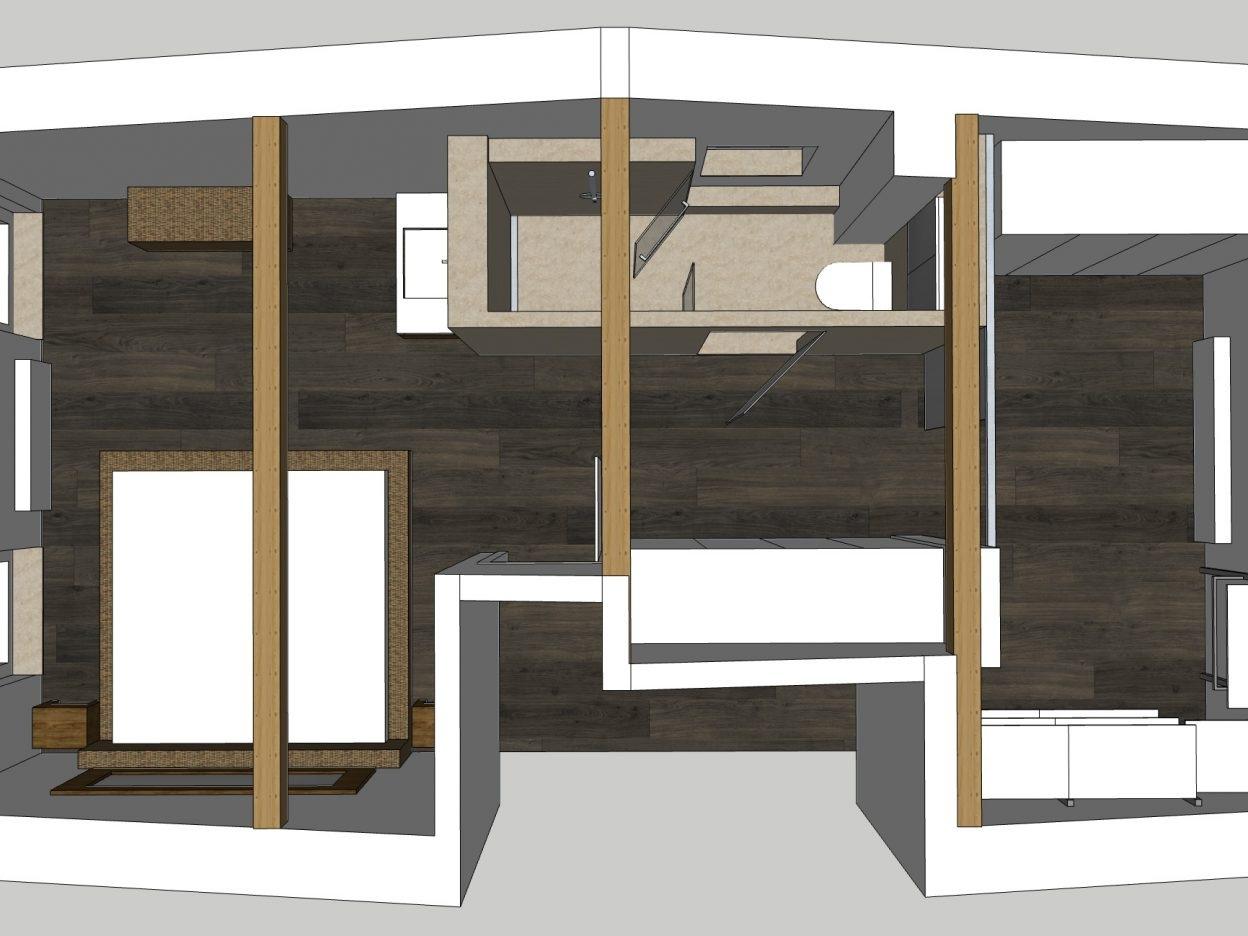 Bad-Variationen unterm Dach - Variante 6