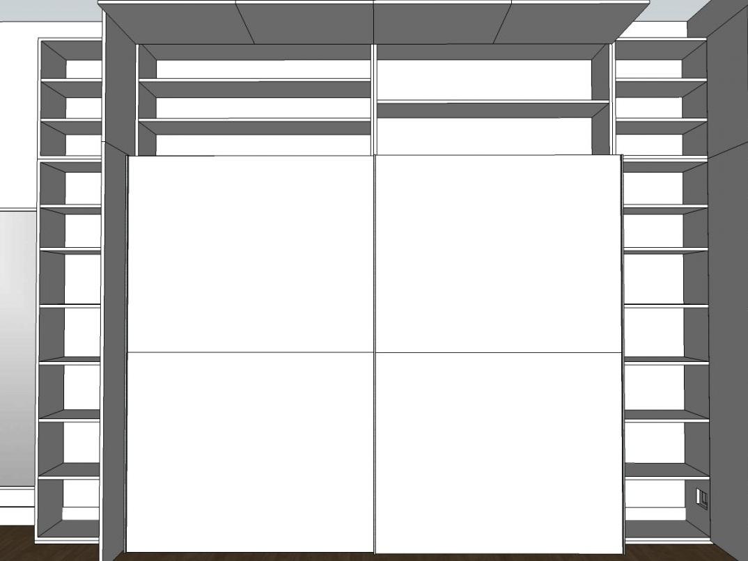 Ein Rahmen für den Kleiderschrank - Visualisierung Schrank geöffnet