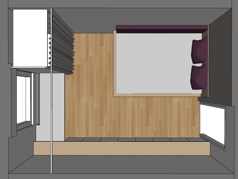 Gästezimmer auf Zeit - Visualisierung von oben