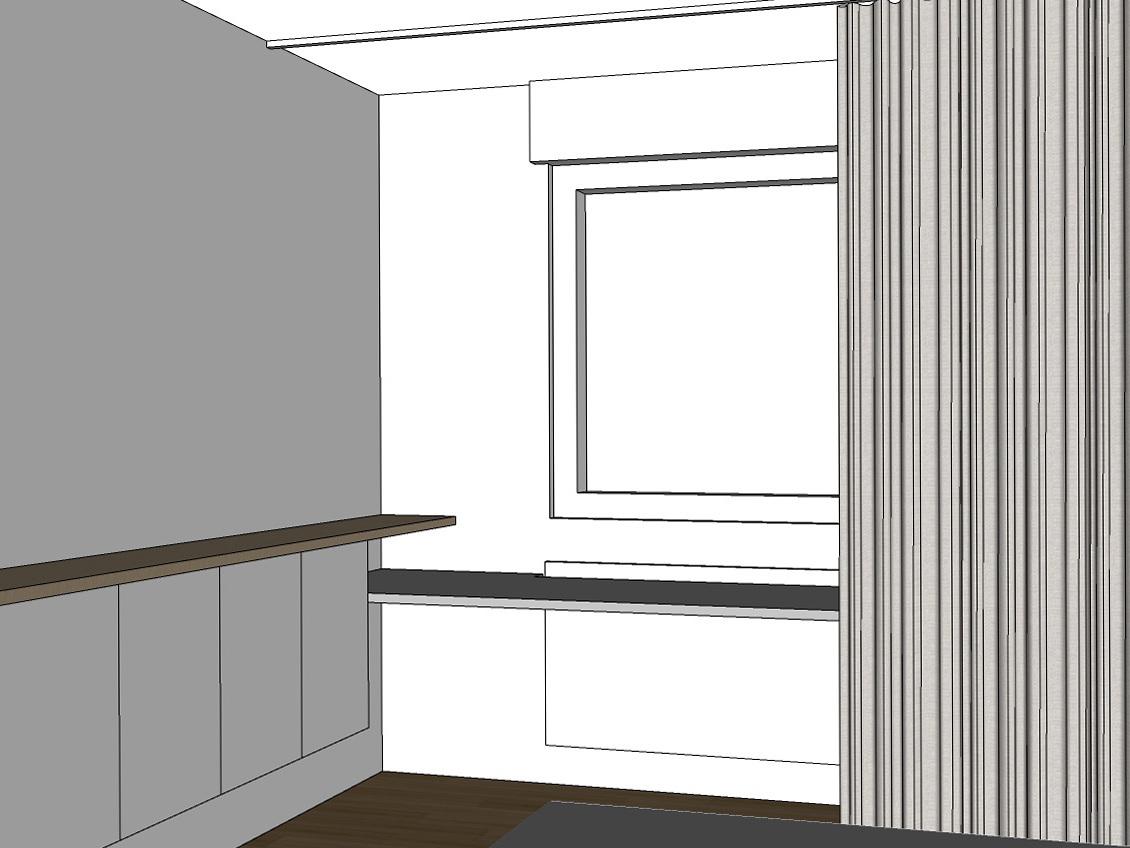 Gästezimmer auf Zeit - Visualisierung Vorhang geöffnet