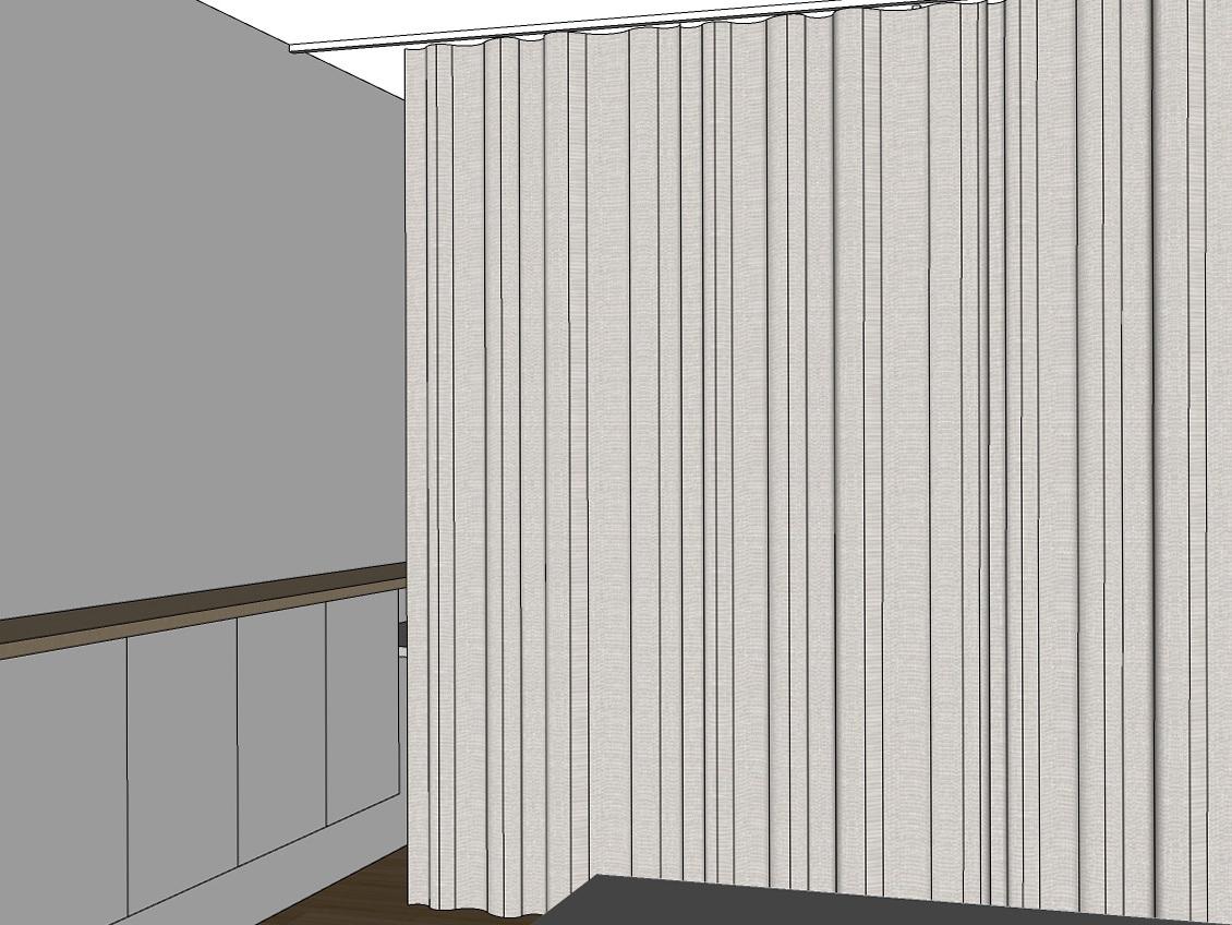 Gästezimmer auf Zeit - Visualisierung Vorhang geschlossen