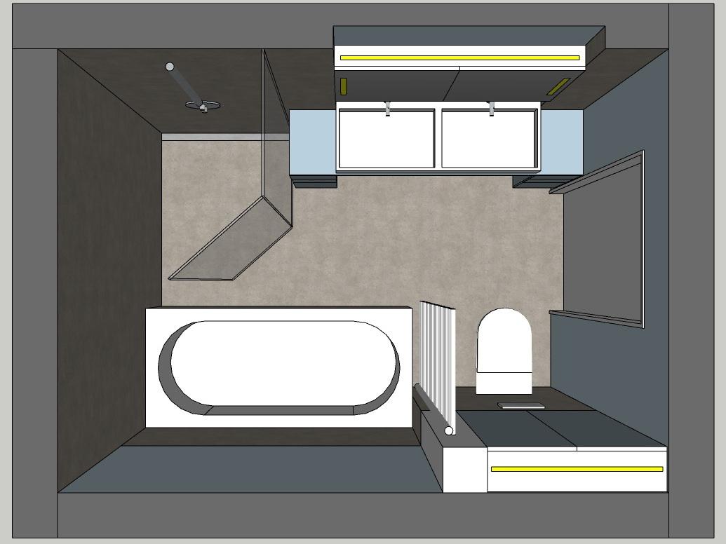 Viel Bad auf wenig Raum - Visualisierung