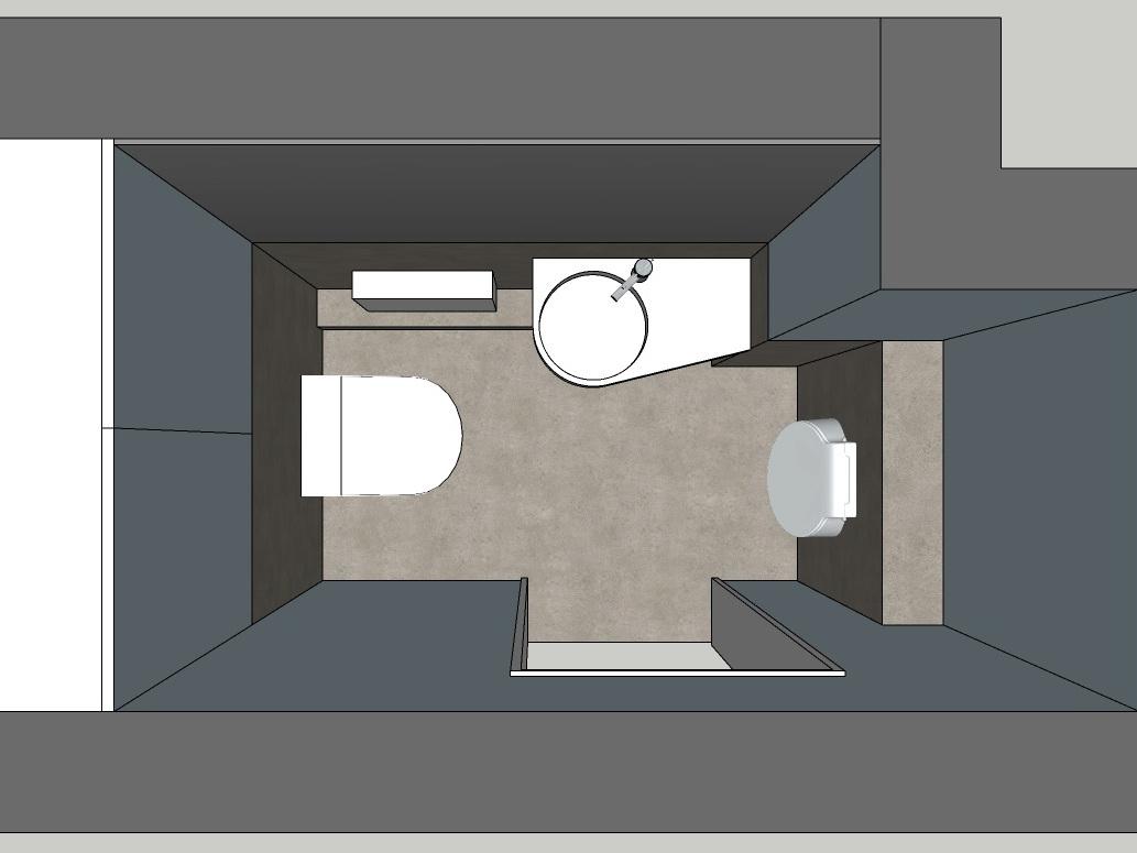 Winziges Gäste-WC - Visualisierung