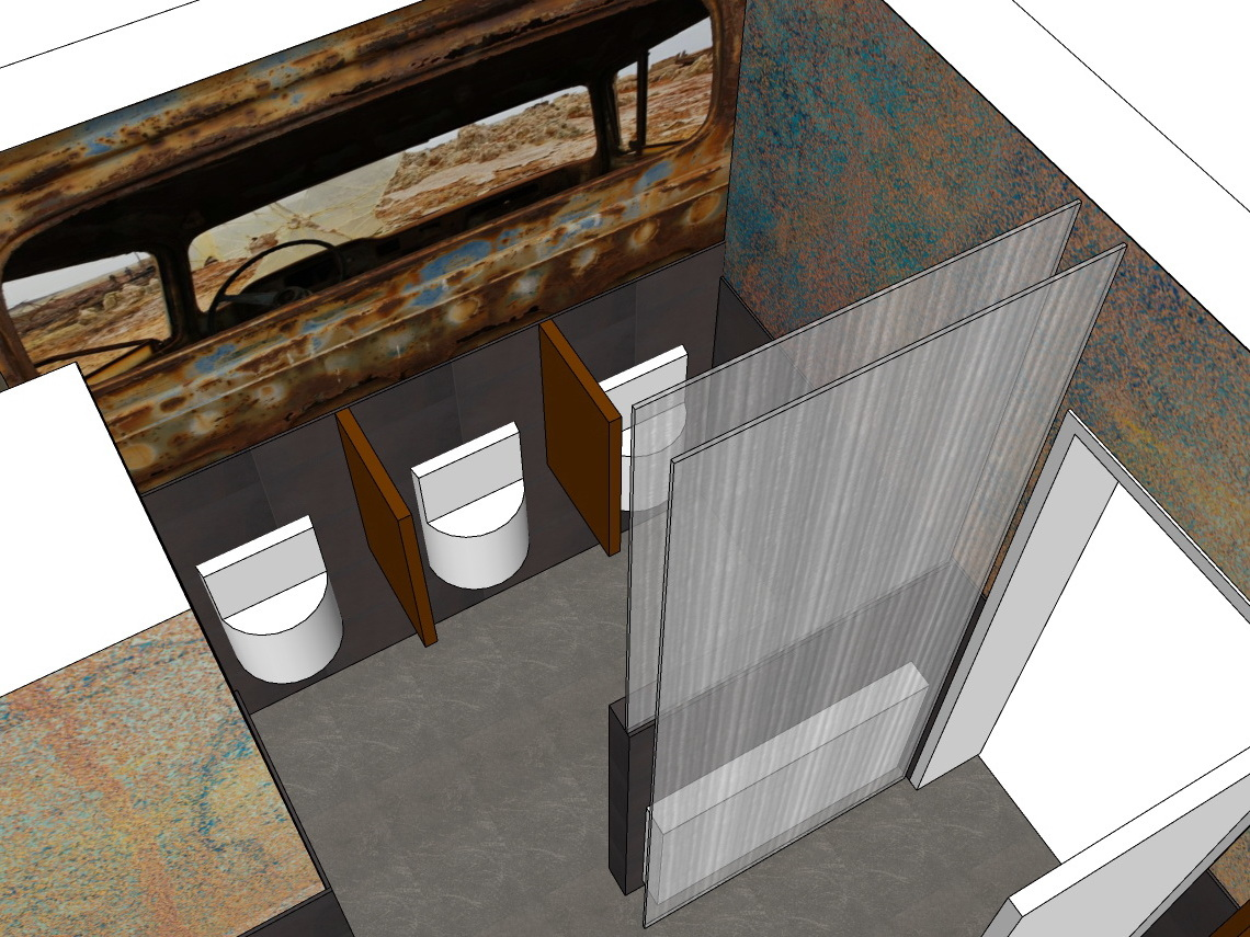 WC-Anlagen - Urinale Herren-WC