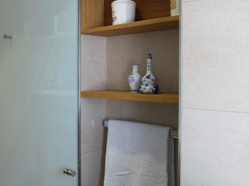 Klein, aber fein - Nische in der Dusche