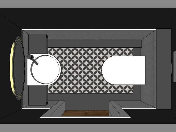 Stilwelten für Gäste-WC - Variante 1 von oben