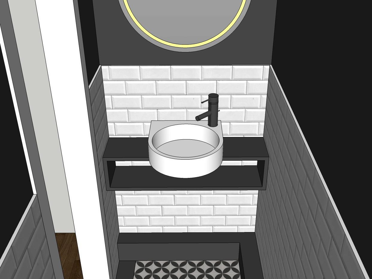 Stilwelten für Gäste-WC - Variante 1