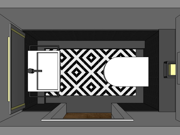 Stilwelten für Gäste-WC - Variante 2 von oben