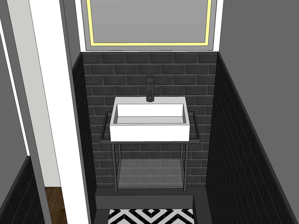 Stilwelten für Gäste-WC - Variante 2