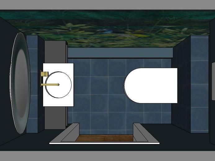 Stilwelten für Gäste-WC - Variante 3 von oben