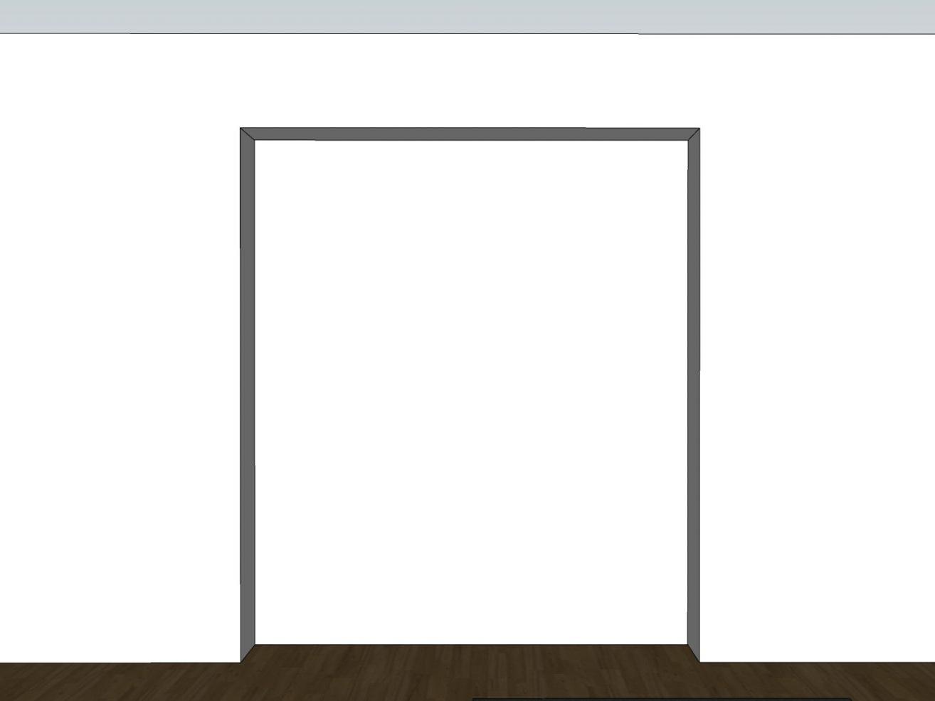 TV-Versteck - Visualisierung Wand Bestand